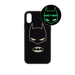 Apple iPhone X/XS - Ovitek iz gume in stekla z lučko (TPUG) - Batman Glow