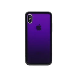 Apple iPhone X/XS - Ovitek iz gume in stekla (TPUG) - Purple Ombre