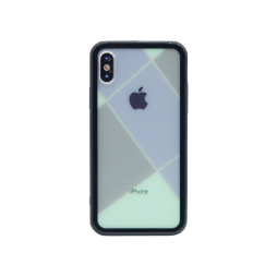 Apple iPhone X/XS - Ovitek iz gume in stekla (TPUG) - Blue Net