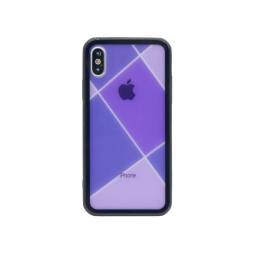 Apple iPhone X/XS - Ovitek iz gume in stekla (TPUG) - Purple Net