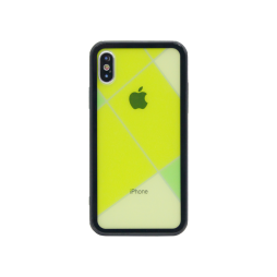 Apple iPhone X/XS - Ovitek iz gume in stekla (TPUG) - Yellow Net