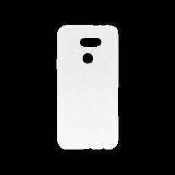 LG K40S - Gumiran ovitek (TPU) - belo-prosojen svetleč