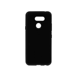LG K40S - Gumiran ovitek (TPU) - črn svetleč