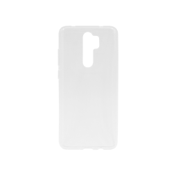 Xiaomi Redmi Note 8Pro - Gumiran ovitek (TPU) - belo-prosojen svetleč