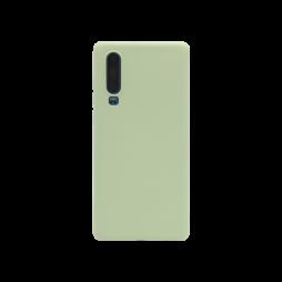 Huawei P30 - Silikonski ovitek (matt) - Soft - Mint Green