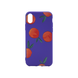 Apple iPhone X/XS - Gumiran ovitek (TPUP) - Blue Fruity