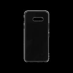LG G8X ThinQ - Gumiran ovitek (TPU) - črn svetleč