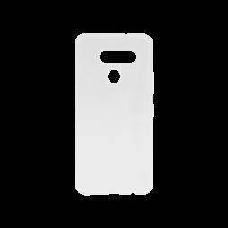 LG K50S - Gumiran ovitek (TPU) - belo-prosojen svetleč
