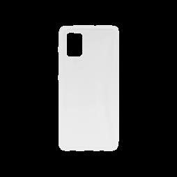 Samsung Galaxy A71 - Gumiran ovitek (TPU) - belo-prosojen svetleč