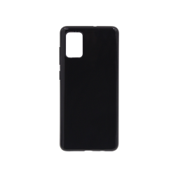 Samsung Galaxy A71 - Gumiran ovitek (TPU) - črn svetleč