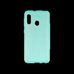 Samsung Galaxy A20e - Gumiran ovitek (TPU) - turkizno-prosojen svetleč