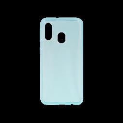 Samsung Galaxy A40 - Gumiran ovitek (TPU) - turkizno-prosojen svetleč