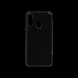 Samsung Galaxy A40 - Gumiran ovitek (TPU) - črn svetleč