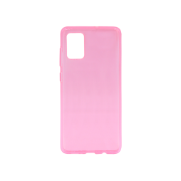 Samsung Galaxy A71 - Gumiran ovitek (TPU) - roza-prosojen svetleč