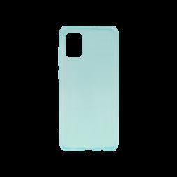 Samsung Galaxy A71 - Gumiran ovitek (TPU) - turkizno-prosojen svetleč