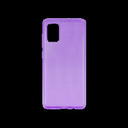 Samsung Galaxy A71 - Gumiran ovitek (TPU) - vijolična-prosojen svetleč