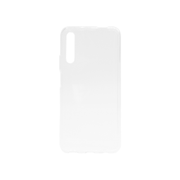 Huawei P Smart Pro (2019) - Gumiran ovitek (TPU) - belo-prosojen svetleč