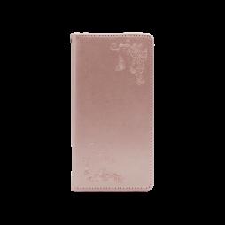 Samsung Galaxy A71 - Preklopna torbica (WLGO-Butterfly) - roza-zlata