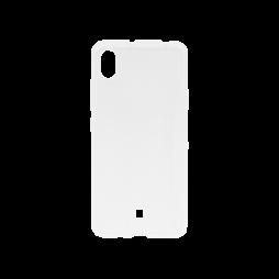 LG K20 - Gumiran ovitek (TPU) - belo-prosojen svetleč