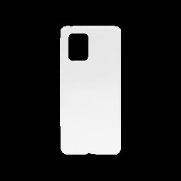 Samsung Galaxy S10 Lite - Gumiran ovitek (TPU) - belo-prosojen svetleč