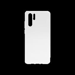 Huawei P30 Pro - Gumiran ovitek (TPU) - belo-prosojen svetleč