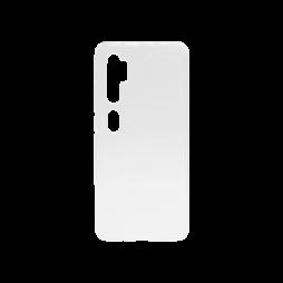 Xiaomi Mi Note 10 - Gumiran ovitek (TPU) - belo-prosojen svetleč