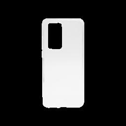Huawei P40 Pro - Gumiran ovitek (TPU) - belo-prosojen svetleč