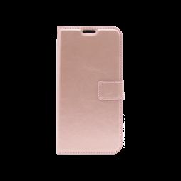 Huawei P40 Lite - Preklopna torbica (WLC) - roza-zlata