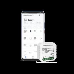 Pametni dom – 2 kanalni WiFi zatemnilni krmilnik - Chameleon Smart Home