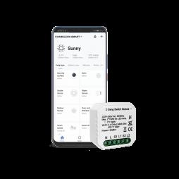 Pametni dom – 2 kanalni WiFi stikalni krmilnik - Chameleon Smart Home