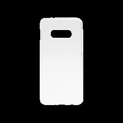Samsung Galaxy S10e - Gumiran ovitek (TPU) - belo-prosojen svetleč