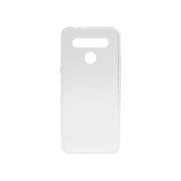 LG K41S - Gumiran ovitek (TPU) - belo-prosojen svetleč