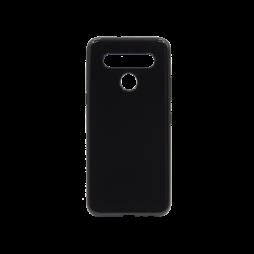 LG K41S - Gumiran ovitek (TPU) - črn svetleč