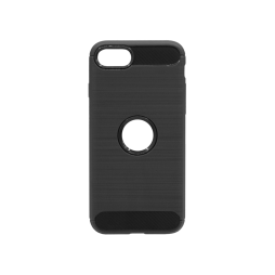 Apple iPhone SE(2020) - Gumiran ovitek (TPU) - črn A-Type