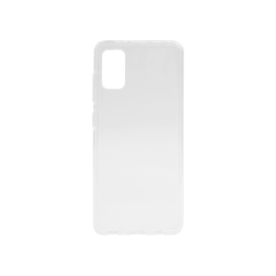Samsung Galaxy A41 - Gumiran ovitek (TPU) - belo-prosojen svetleč