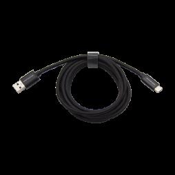 Podatkovno-polnilni kabel USB  -Type C 3.0 - 2m črn, najlon