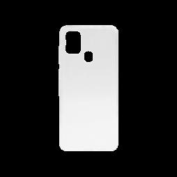 Samsung Galaxy A21s - Gumiran ovitek (TPU) - belo-prosojen svetleč