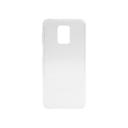 Xiaomi Redmi Note 9 Pro - Gumiran ovitek (TPU) - belo-prosojen svetleč
