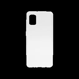 Samsung Galaxy A31 - Gumiran ovitek (TPU) - belo-prosojen svetleč