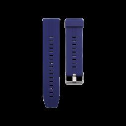 Silikonski pašček (22mm) - temno modra