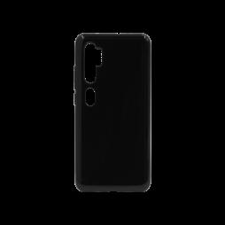 Xiaomi Mi Note 10 - Gumiran ovitek (TPU) - črn svetleč