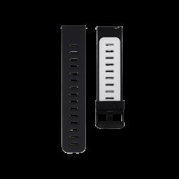 Silikonski pašček (22mm) - črno-bel