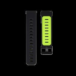 Silikonski pašček (22mm) - črno-zelen