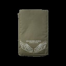 Chameleon Fun Wings (žepek) - vojaško zelena, bela krila