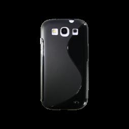 Samsung Galaxy S3 - Gumiran ovitek (TPU) - črn SLine