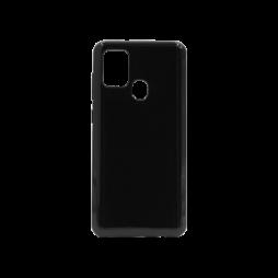 Samsung Galaxy A21s - Gumiran ovitek (TPU) - črn svetleč