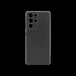 Samsung Galaxy S21 Ultra - Gumiran ovitek (TPU) - črn MATT
