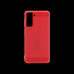 Samsung Galaxy S21 - Gumiran ovitek (TPU) - rdeč A-Type