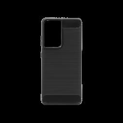 Samsung Galaxy S21 Ultra - Gumiran ovitek (TPU) - črn A-Type