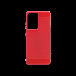 Samsung Galaxy S21 Ultra - Gumiran ovitek (TPU) - rdeč A-Type